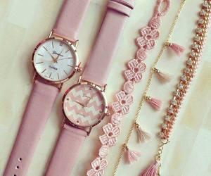 pink, fashion, and watch image