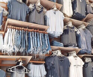 clothes, outfit, and blue image