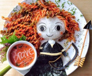 brave, food, and disney image
