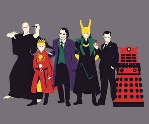 Dalek, joker, and moriarty image