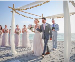 beach, dress, and romantic image
