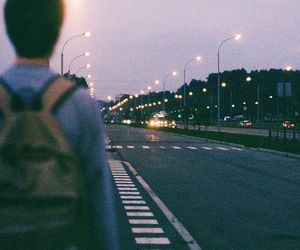 boy, light, and road image