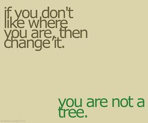 quote, change, and tree image