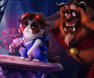 disney, grumpy cat, and beauty and the beast image