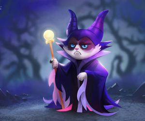 grumpy cat, maleficent, and disney image