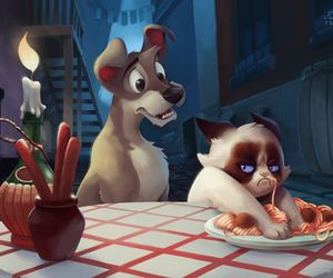 disney, funny, and lady and the tramp image