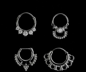 jewelry, piercing, and Piercings image