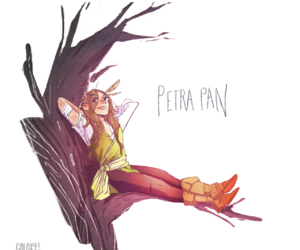 peter pan, disney, and drawing image