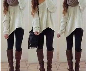 fashion, outfit, and boots image