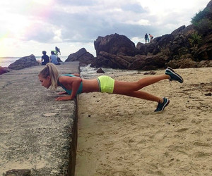 fitness, workout, and beach image