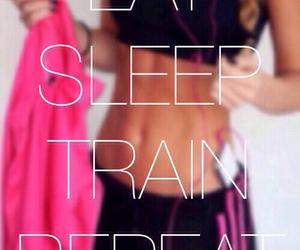 fitness, train, and sleep image