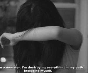 sad, quote, and monster image