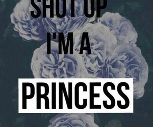 princess, flowers, and shut up image