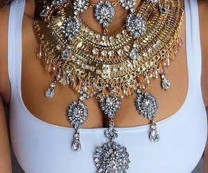 necklace, gold diamonds, and newpurchase image