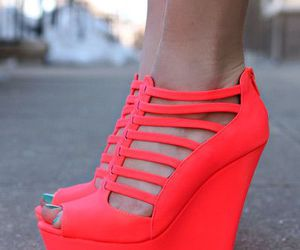 shoes, heels, and neon image