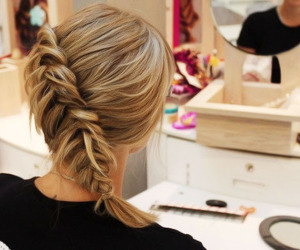 comb, girl, and hairstyle image