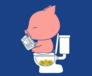 pig, money, and funny image