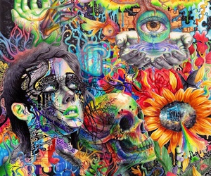 art, trippy, and acid image