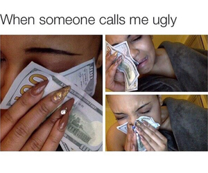 money, funny, and ugly image