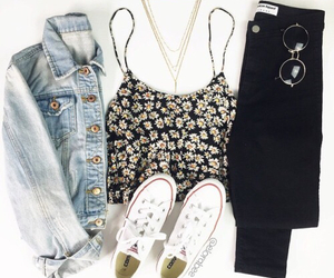 outfit, fashion, and converse image