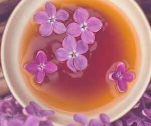 drink, flowers, and relax image