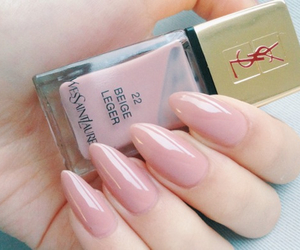 nails, pink, and YSL image