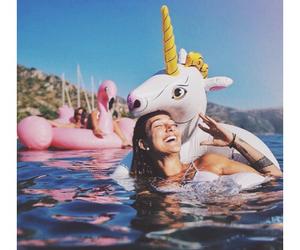 summer, unicorn, and girl image