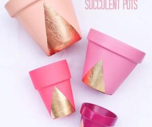 diy, pink, and pot image