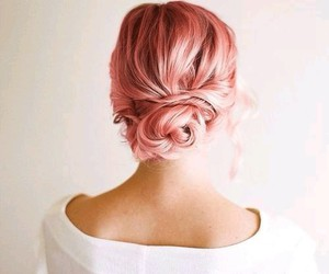 hair, pink hair, and tumblr image