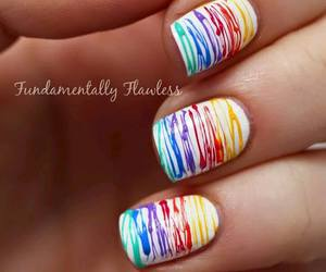 nails, colors, and white image