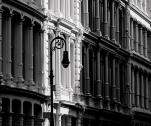 architecture, black&white, and building image