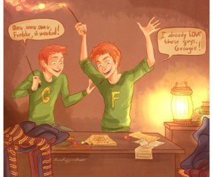 harry potter, weasley, and fred and george image