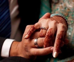 couple, henna, and ring image