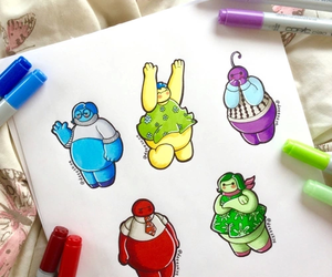 baymax, disney, and inside out image