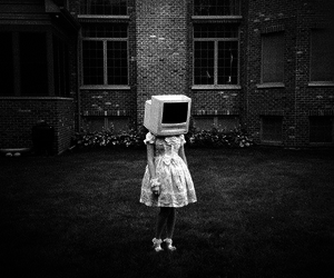computer, face, and girl image
