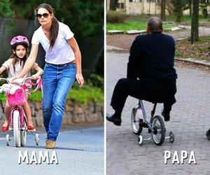 Bike ride, fun, and dad image