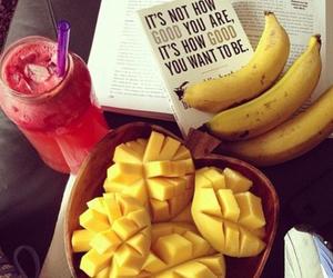 banana, fruit, and words image
