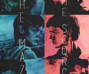 the maze runner, boy, and girl image