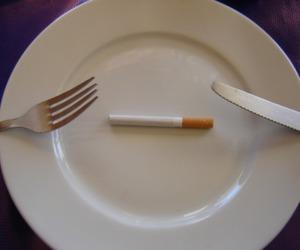 cigarette, smoke, and eat image