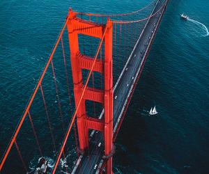 bridge, ocean, and cool image