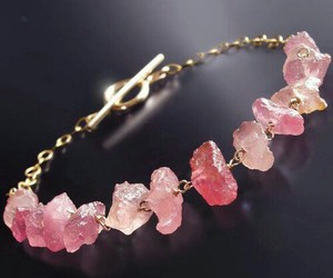 pink, bracelet, and beautiful image
