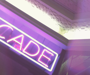 arcade, purple, and a image