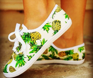 shoes, pineapple, and fashion image