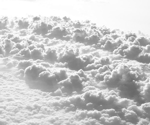 clouds, white, and sky image