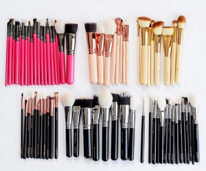 Brushes, makeup, and luxury image
