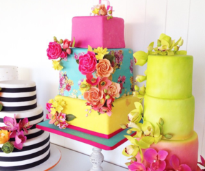 cake, colors, and dessert image