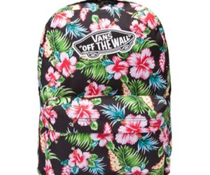 backpack, floral, and school image