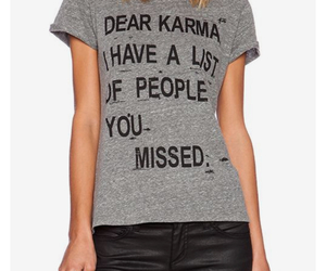 graphic tee, grey, and karma shirt image