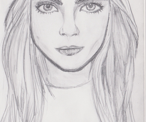 art, drawing, and cara delevingne image