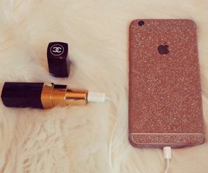 iphone, chanel, and lipstick image